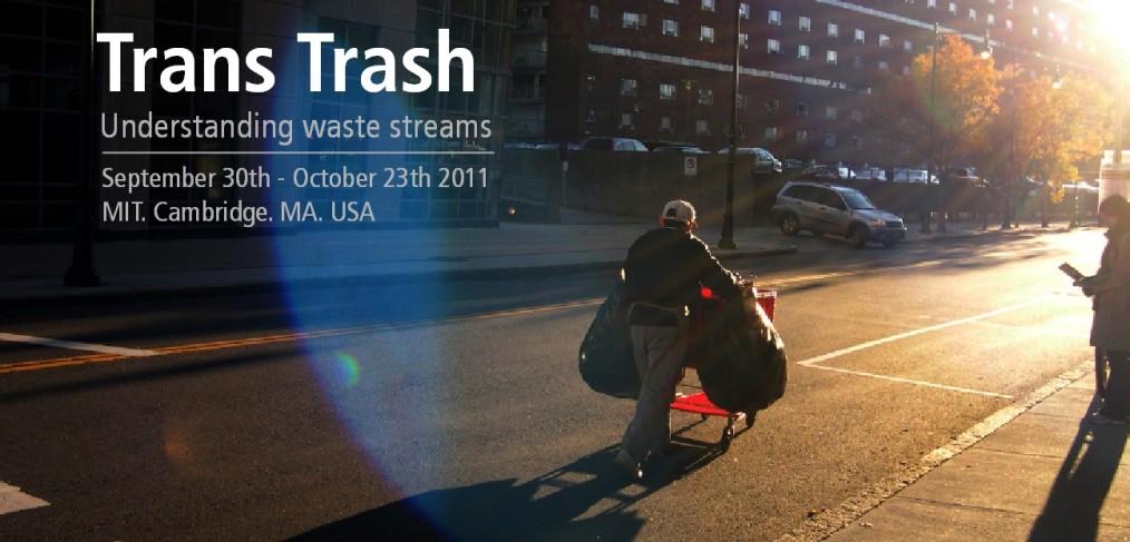 Cartel para anunciar la exposición Trans Trash