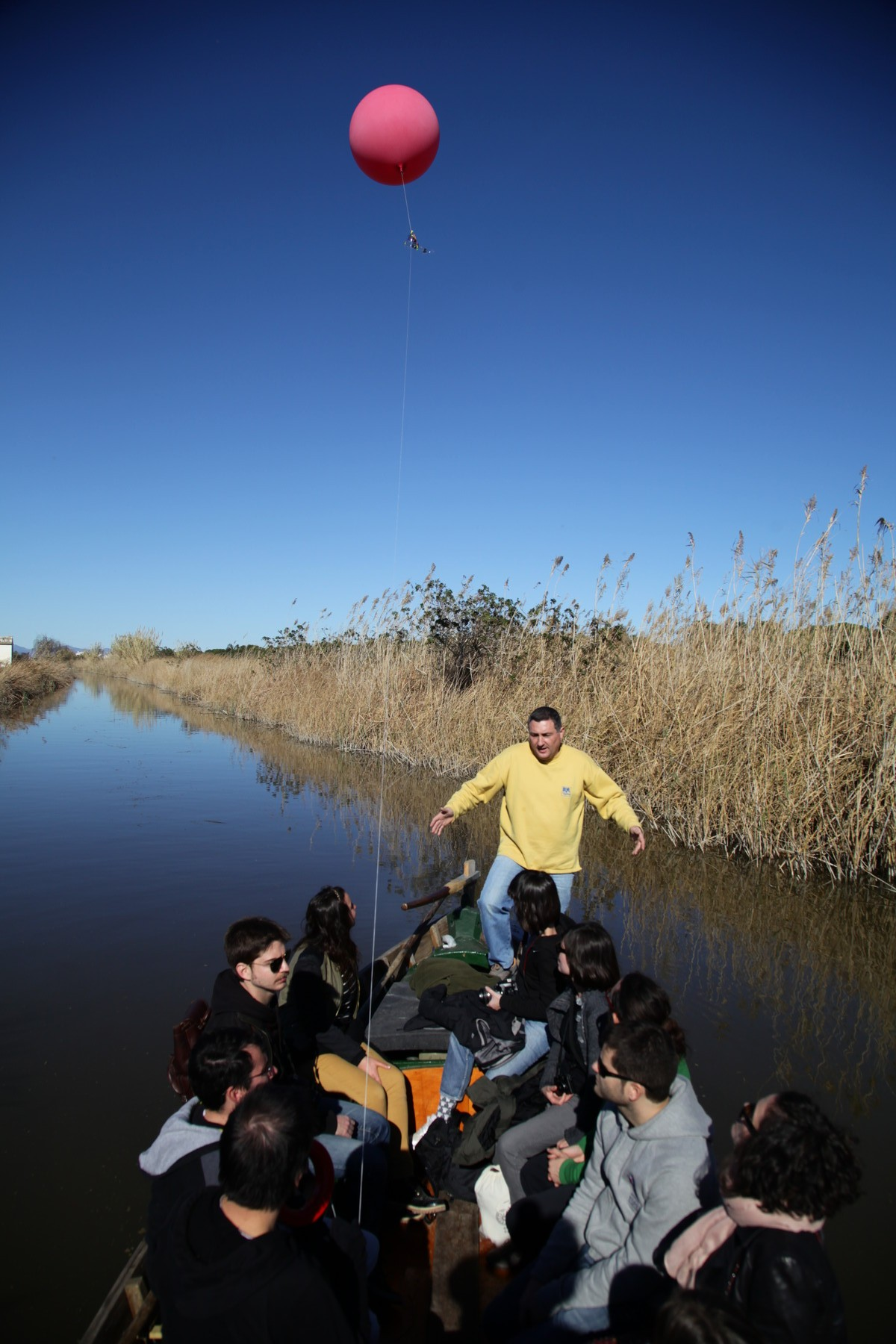Mapping from a boat going to l'Albufera