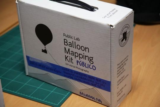 Kit para hacer fotos con globos y cometas de uso público