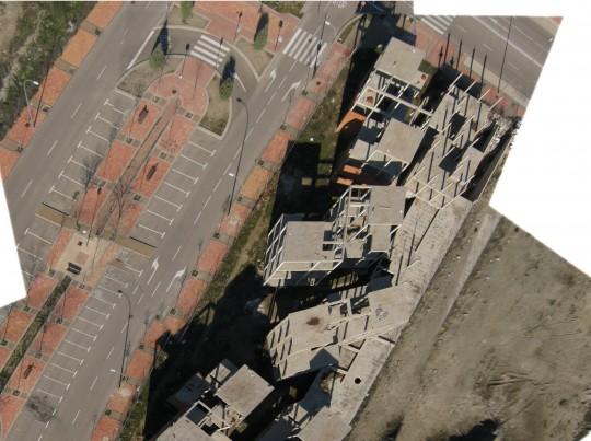 Ruinas en el PAU de la extensión de Vallecas