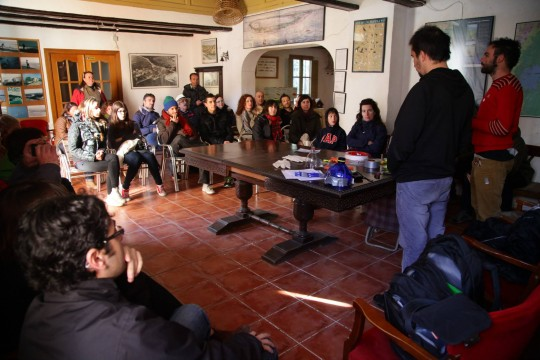 Introduction to the workshop at Casa de la Demaná, in El Saler (Valencia).