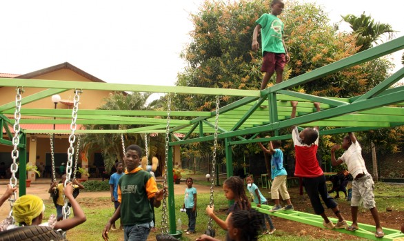 Work space & Playground in the CCE in Malabo