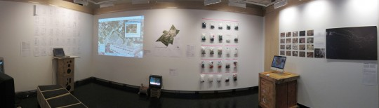 Panorama photo of the Trans Trash exibition at MIT