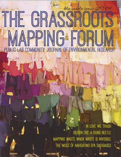 Cover of The Waste Issue (Q3 2014) of the The Grassroots Mapping Forum
