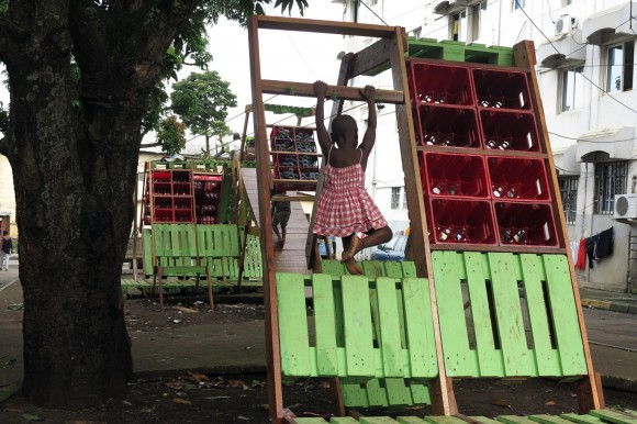 Self-made playground in Malabo