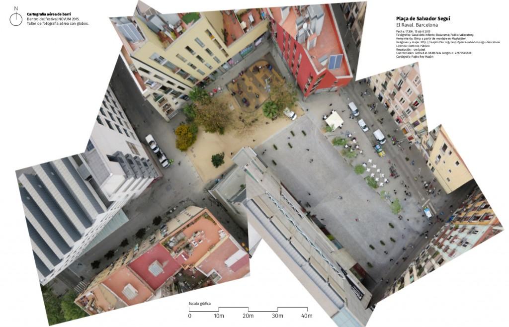 Mapa realizado durante el taller Cartografía aérea de Barrio (2015) junto con el Casal dels Infants.
